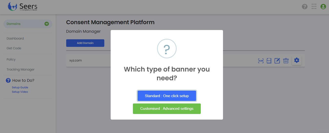 Which type of banner